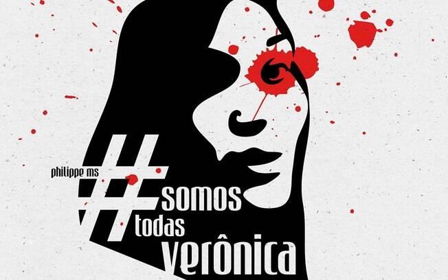 Internautas fazem desenhos em homenagem a Verônica Bolina. Foto: Facebook/Reprodução