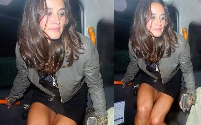 Pippa Middleton se saiu bem ao entrar no carro e não deixar a calcinha à mostra