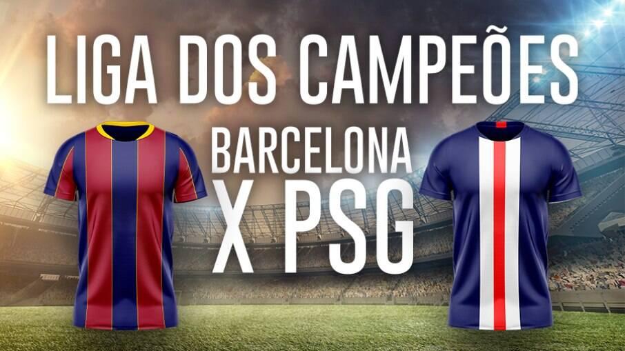 Barcelona e PSG se enfrentam pela Champions