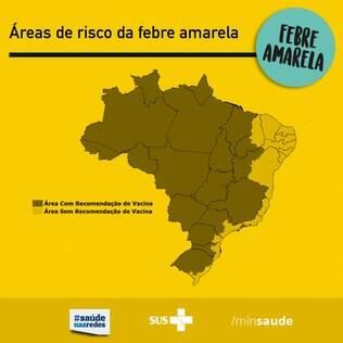 Locais com recomendação para vacina no Brasil