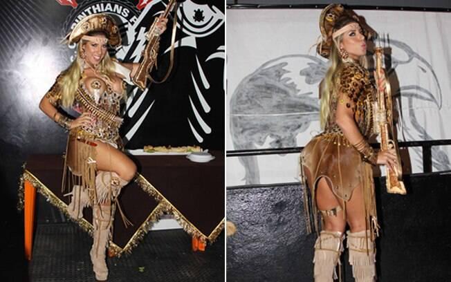 Tatiane Minerato é rainha de bateria da Gaviões da Fiel há quatro anos
