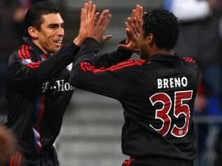 Breno e Lúcio atuaram juntos no Bayern