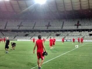 Huracán treina no Mineirão para a Copa Libertadores da América