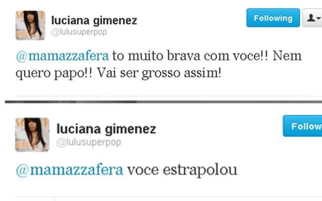 Luciana Gimenez se revolta e troca farpas com Matheus Mazzafera pelo Twitter