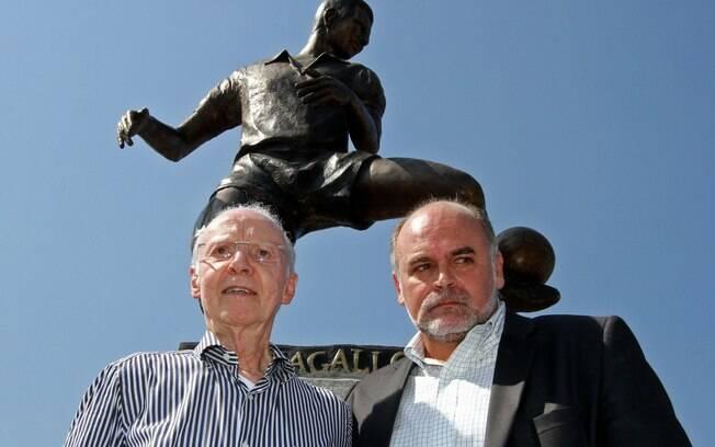 Zagallo ao lado de Maurício Assumpção,  presidente do Botafogo