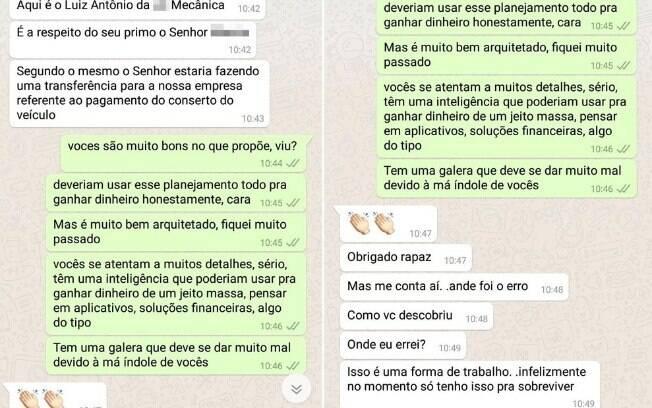 Após golpe no WhatsApp fracassar, criminoso pergunta à vítima onde foi que errou