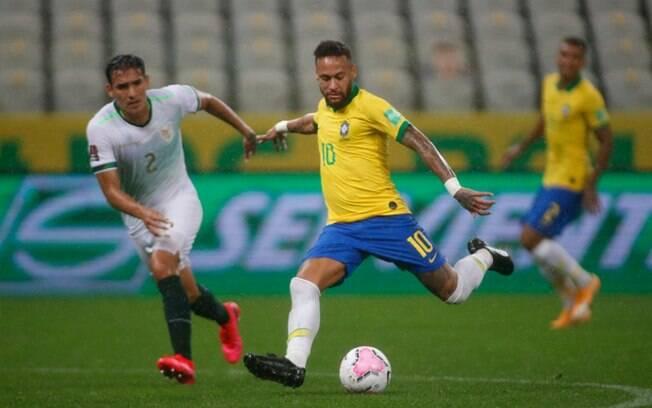 Neymar pode igualar Ronaldo Fenômeno em gols pela Seleção e ficar atrás somente de Pelé