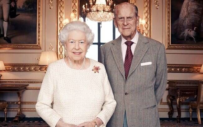Rainha Elizabeth e seu marido, Príncipe Philip