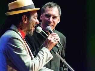 Amizade. Melodia e Antunes expressam a admiração que sentem um pelo outro no espetáculo