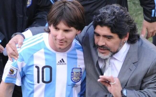 Maradona comandou a seleção da Argentina entre 2008 e 2010