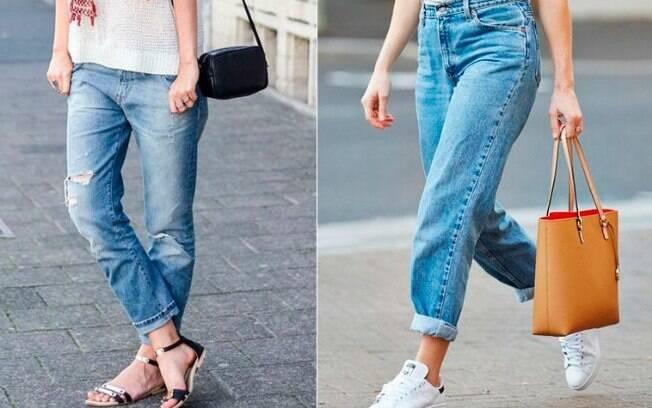 Diferentes modelos de calça jeans podem valorizar mais algumas partes do corpo