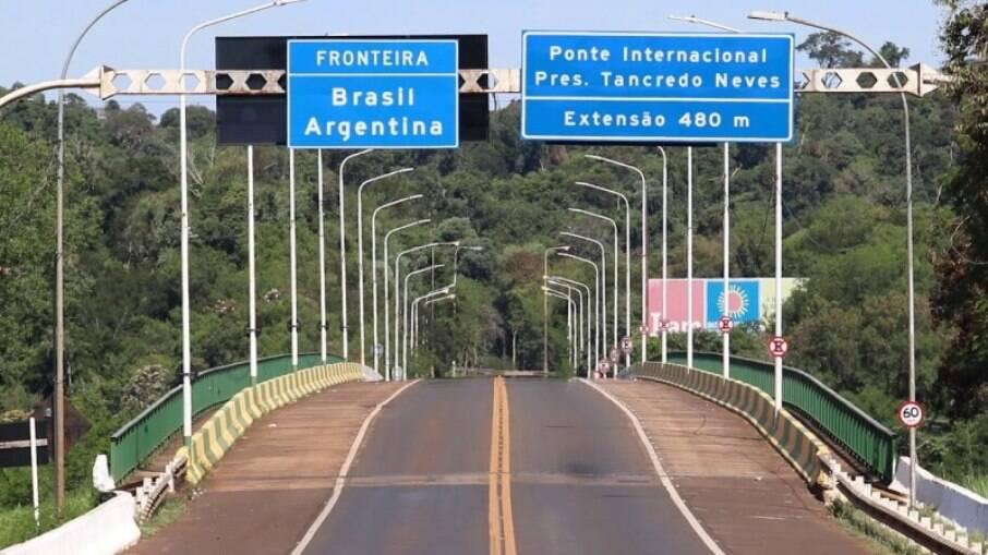 Trecho em Foz do Iguaçu que liga à fronteira da Argentina