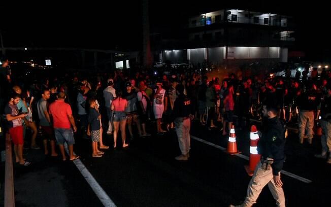 Protestos no Macapá durante o apagão que atingiu a região em novembro