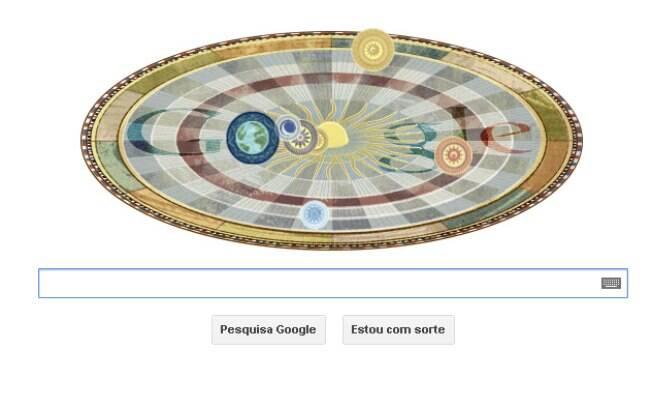 Google homenageia Nicolau Copérnico com novo doodle nesta terça-feira (19)