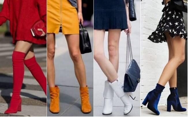 As botas sempre foram consideradas um clássico da moda e com um toque especial de cor, pode deixar seu visual estiloso