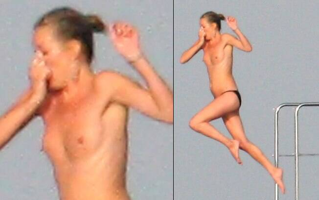 Kate Moss faz topless em Saint Tropez