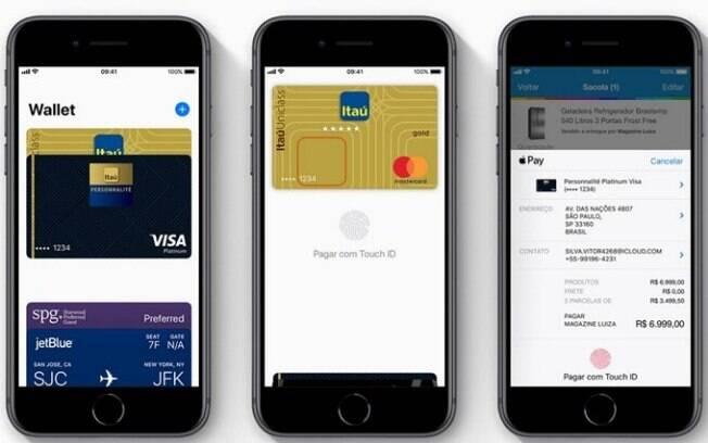 Lançado em 2014 nos Estados Unidos, Apple Pay  concorre diretamente com o Android Pay e Samsung Pay