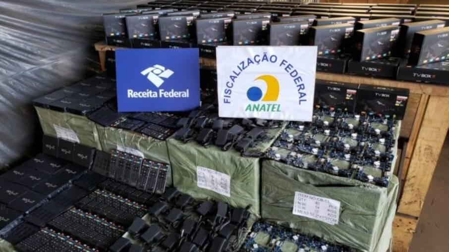 70 mil TV Box para IPTV pirata foram apreendidas só no Porto de Santos