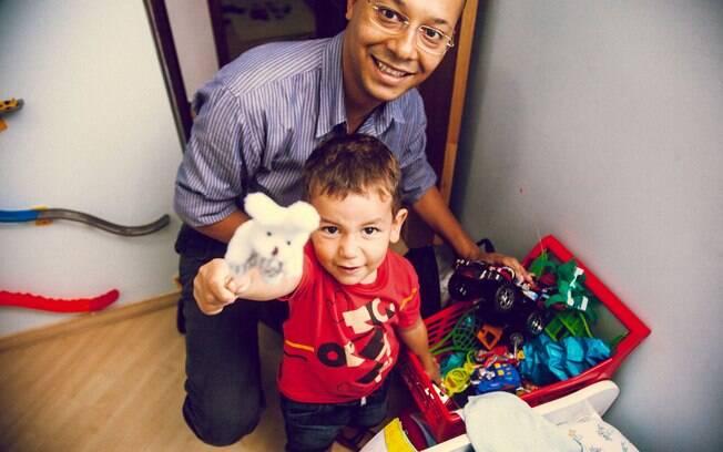 Mike Moreira e o filho Bruno: