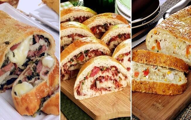 4 receitas deliciosas de pão recheado para você testar em casa