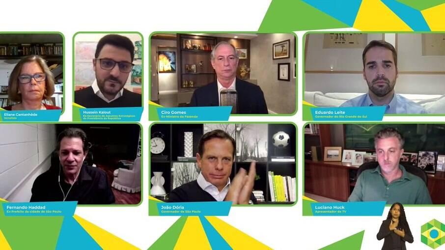 Fernando Haddad, Ciro Gomes, João Doria, Eduardo Leite e Luciano Huck participam da Brazil Conference