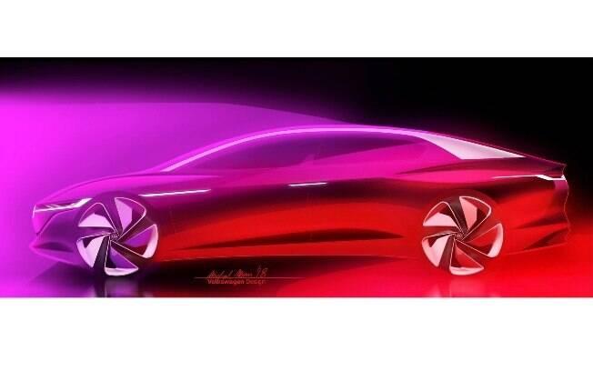 O Volkswagen é um sedã com linhas de fastback, estratégia de design que atende as tendências do mercado