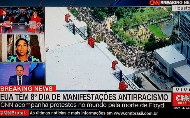 Alexandra Loras ao vivo na CNN