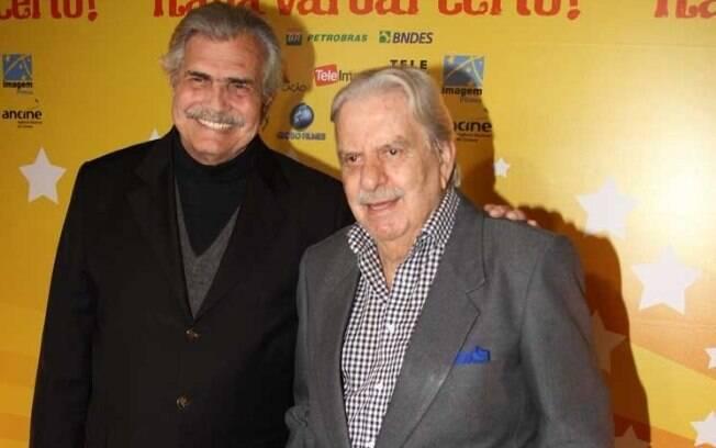 Tarcísio Meira e o diretor do longa Hugo Carvana
