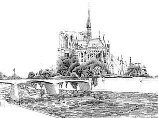 Imagem das margens do rio Sena sob o olhar de José Cavalcanti