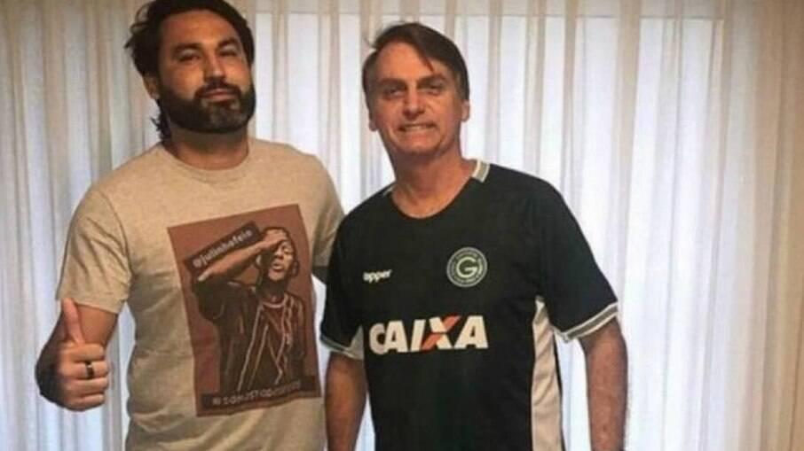 Léo Índio e Jair Bolsonaro