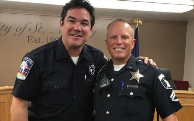 Dean Cain, famoso por interpretar o herói na TV, agora faz parte da polícia americana em Idaho, nos Estados Unidos
