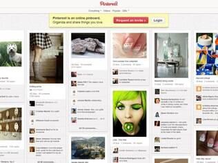 Pinterest: no lugar de mensagens, imagens