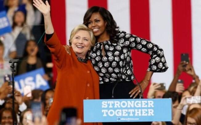 Michelle Obama foi mais lembrada que Hillary Clinton, nos EUA, quando perguntados sobre a mulher que mais admiram