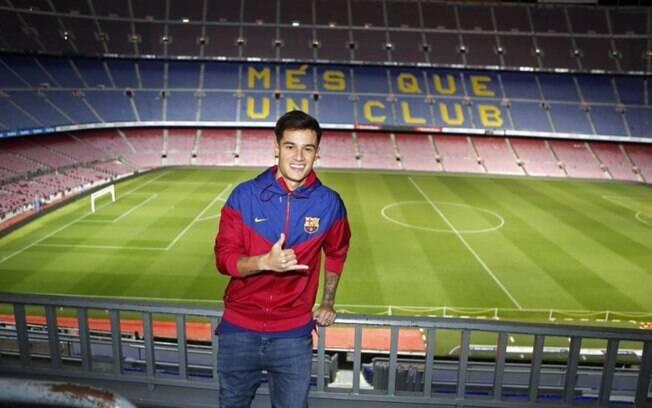 Philippe Coutinho chegou ao Barcelona