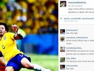 Marcelo usou o Instagram para comentar o empate com a seleção mexicana
