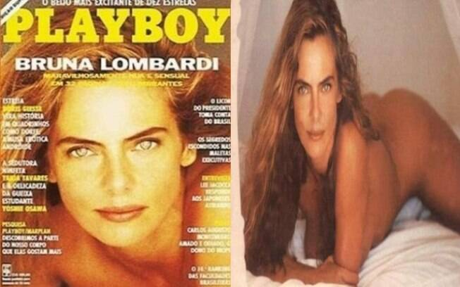 Atriz Bruna Lombardi foi capa da revista 'Playboy' em 1991