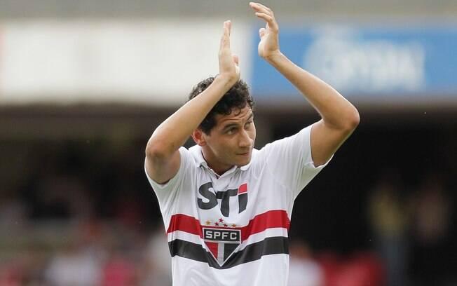 Ganso marcou de cabeça seu primeiro gol pelo  São Paulo