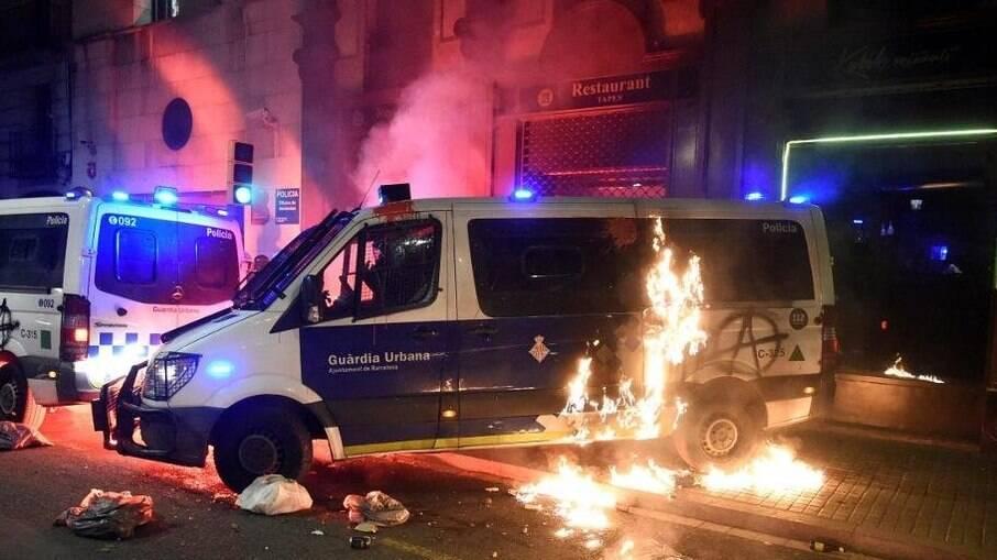 14 pessoas foram detidas após protesto em Barcelona