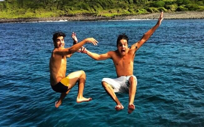 Caio Castro e Guilherme Boury