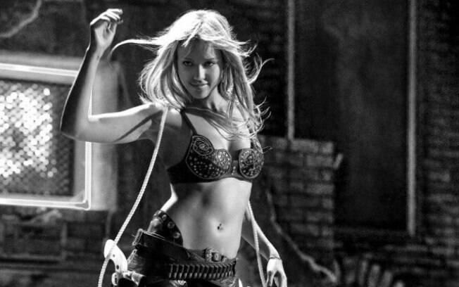 Jessica Alba em cena de 'Sin City - A Cidade do Pecado' (2005)