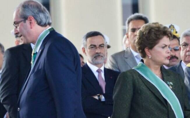 Cunha e Dilma: ele espera um resultado sobre a ação contra a presidente até o mês de março