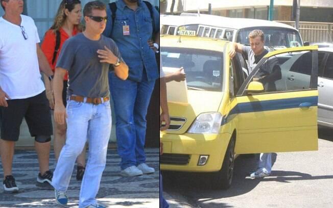 Luciano Huck chega ao hotel Fasano