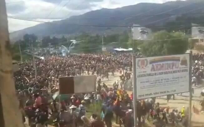 Protesto em Cochabamba nesta sexta-feira terminou com ao menos nove mortos