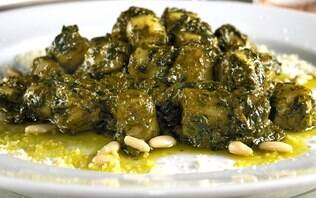 Nhoque ao pesto