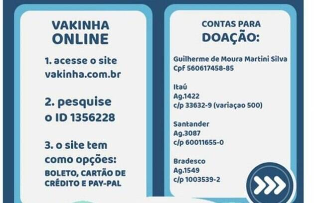 Flyer da campanha do Gui Martini