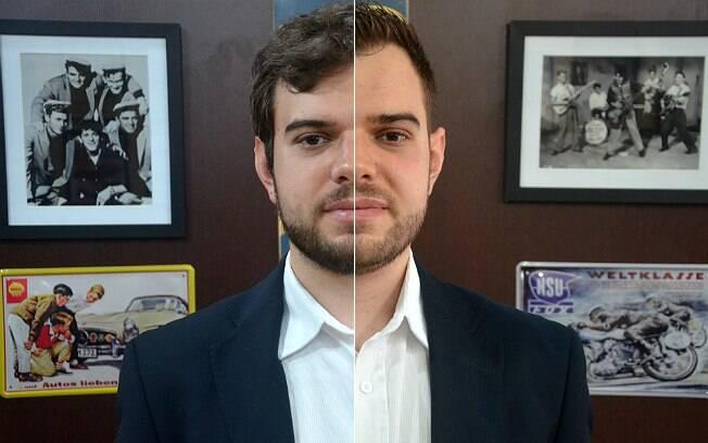 O antes e o depois da barba do advogado Ricardo Del Sole. Ele aproveitou e cortou o cabelo