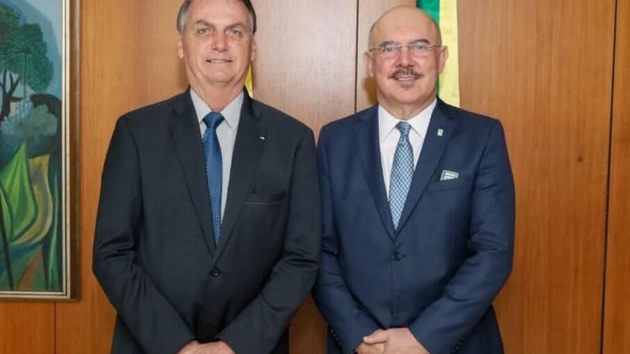 Presidente Jair Bolsonaro e Ministro da Educação Milton Ribeiro