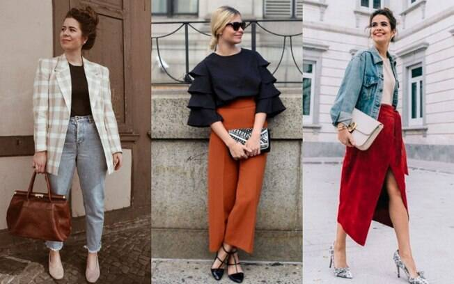 Inspirados na moda retrô, as peças do outono/inverno 2019 ganharam cortes diferentes e detalhes extravagantes