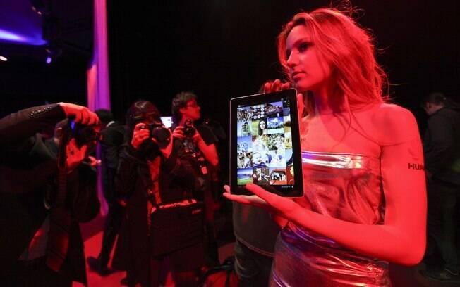 MediaPad 10 é exposto no MWC 2012, evento termina hoje (1º)