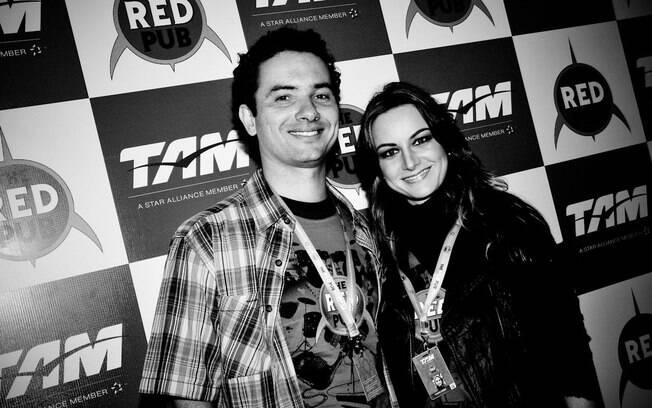 Marco Luque e a mulher, Flávia Vitorino